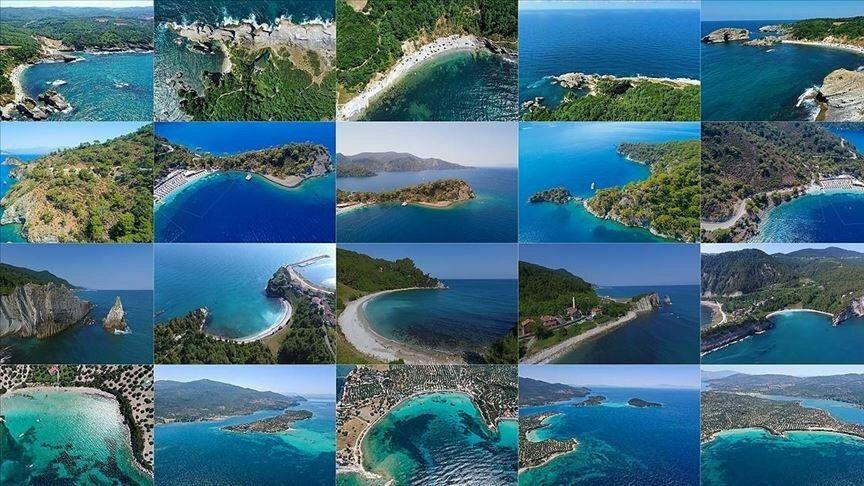 ترکیب زیبای رنگها در خلیجهای بهشت ترکیه