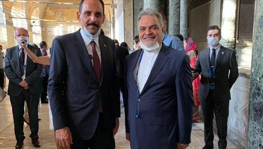 بازدید سفیر ایران در ترکیه از مسجد ایاصوفیه