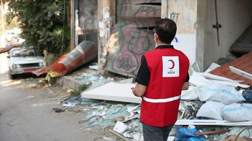 کمپین هلال احمر ترکیه برای کمک به مردم لبنان