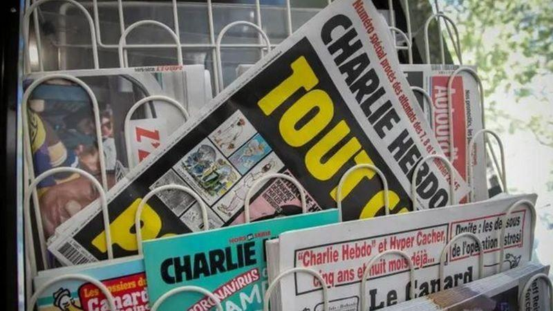 شکایت اردوغان از نشریه فرانسوی، به دلیل انتشار کاریکاتور وی